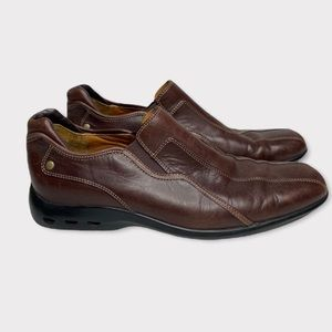 Cole Haan Brown Leather Slip-on Loafers | 10
